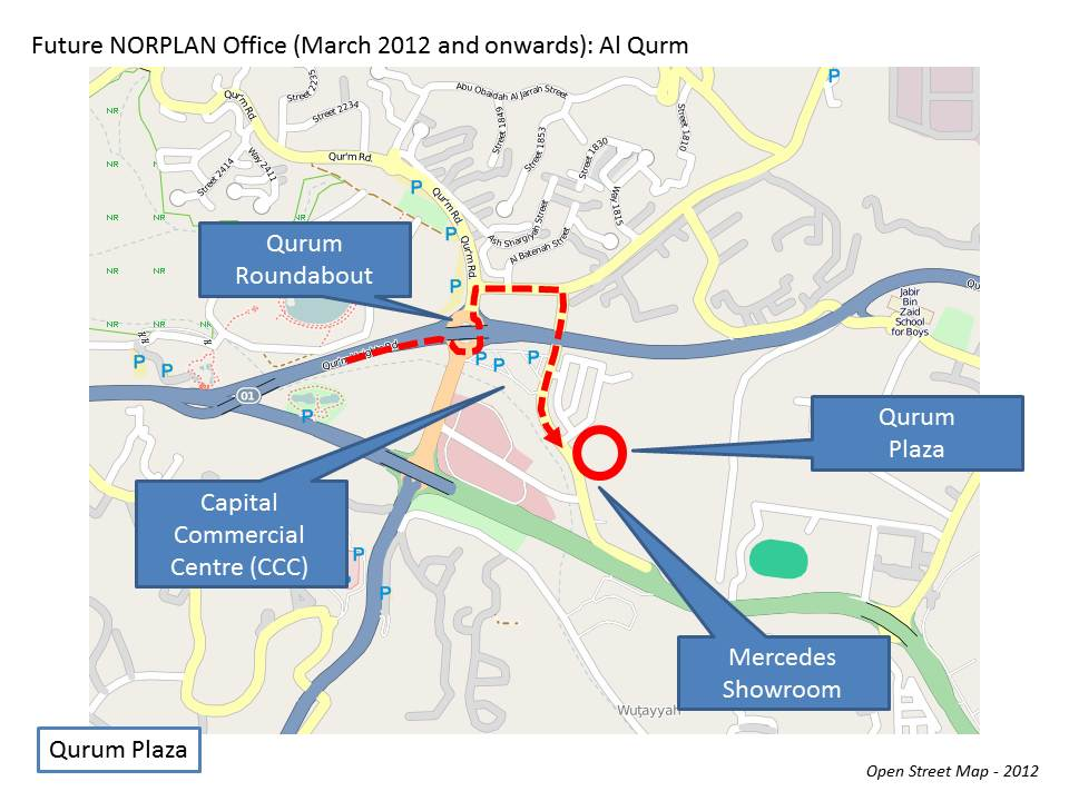 Location Map NORPLAN Oman